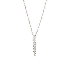 14k graduated vertical bezel bar necklace