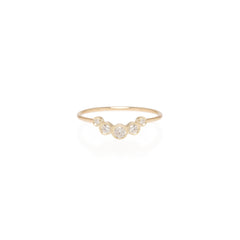 Zoë Chicco 14kt Yellow Gold Graduated 5 Bezel Set Diamond Ring