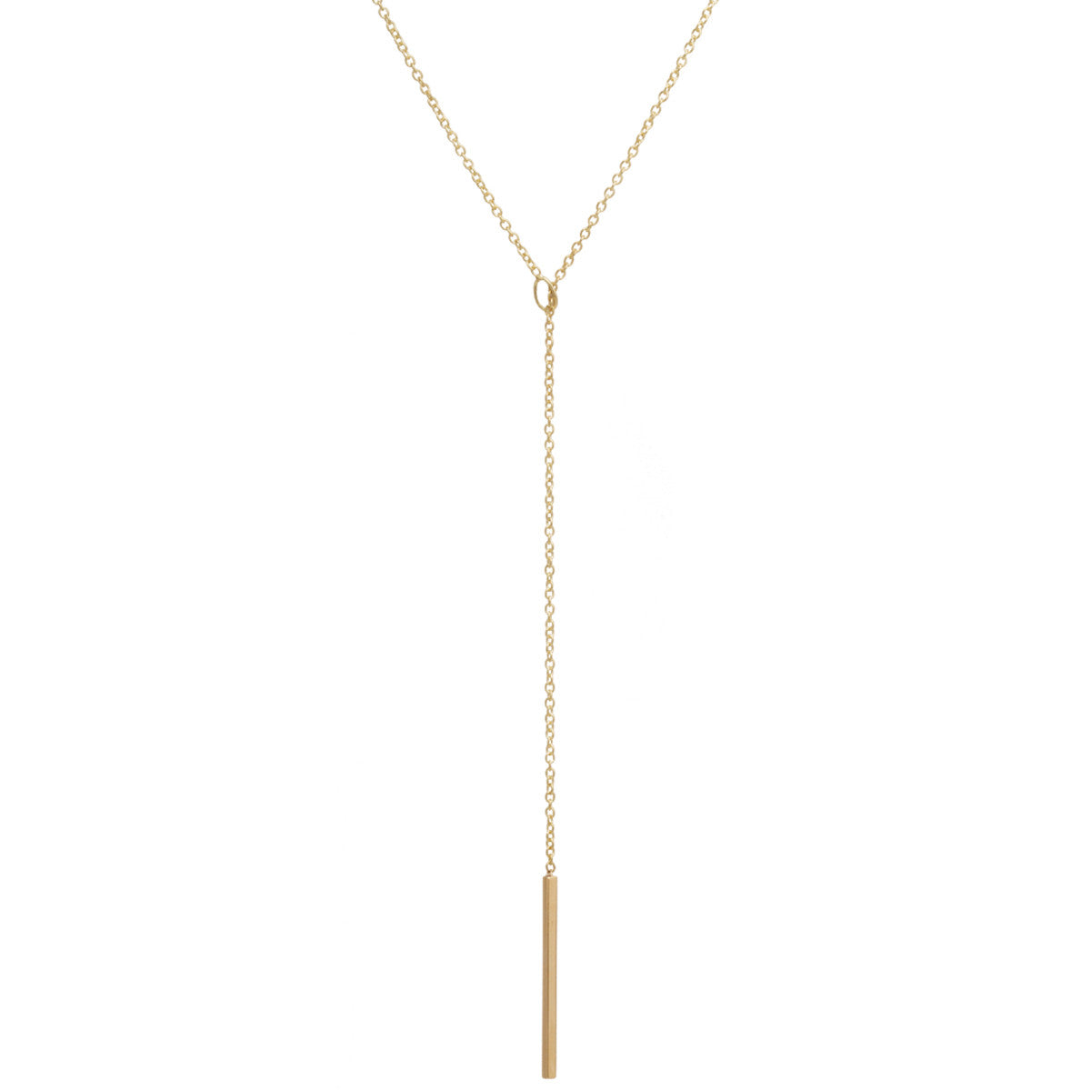 14k vertical bar toggle necklace
