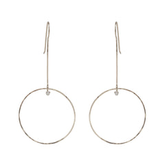 Zoë Chicco 14kt White Gold Large Drop Circle Earrings with Prong Set Diamonds
