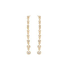 Zoë Chicco 14kt Yellow Gold Bezel Set Diamond Eternity Earrings