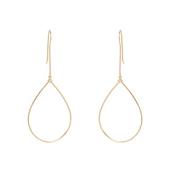 Zoë Chicco 14kt Yellow Gold Large Drop Tear Princess Diamond Earrings