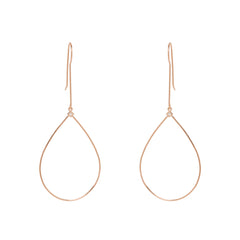 Zoë Chicco 14kt Rose Gold Large Drop Tear Princess Diamond Earrings