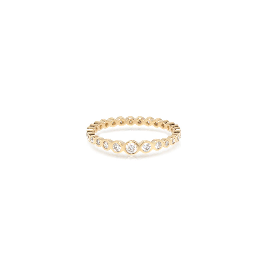 Zoë Chicco 14kt Yellow Gold Graduated Bezel Set Diamond Eternity Band