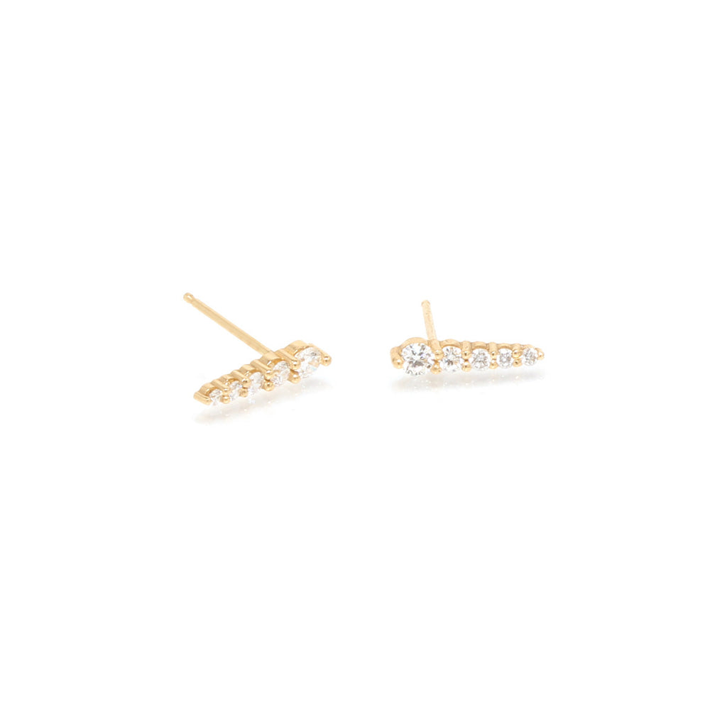 Zoë Chicco 14kt Yellow Gold Large Diamond Ice Pick Stud Earrings