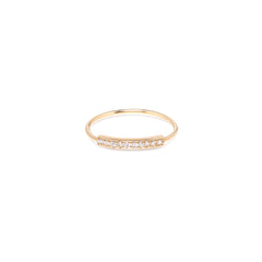 14k horizontal pave bar ring