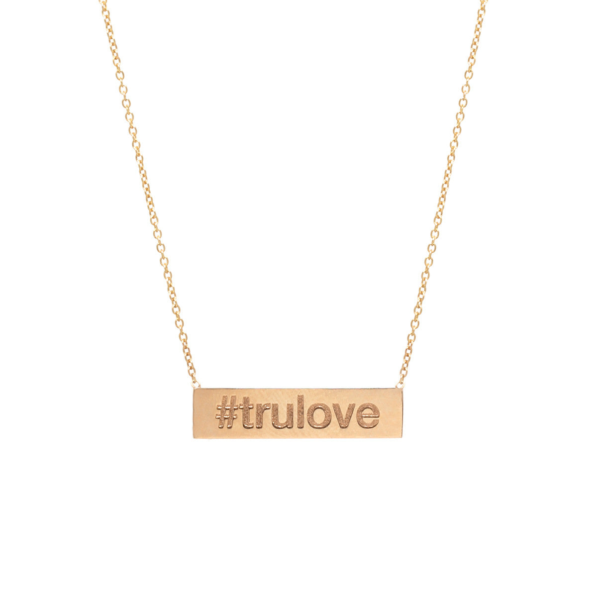 Zoë Chicco 14kt Yellow Gold Hashtag Necklace