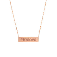 14k hashtag necklace