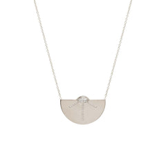 14k pave and marquis diamond large horizon necklace