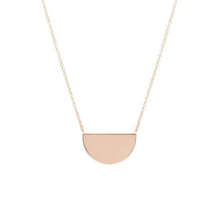 14k medium horizon necklace
