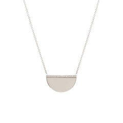 14k pave diamond medium horizon necklace