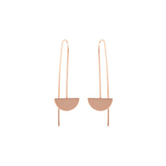 14k small horizon wire earrings