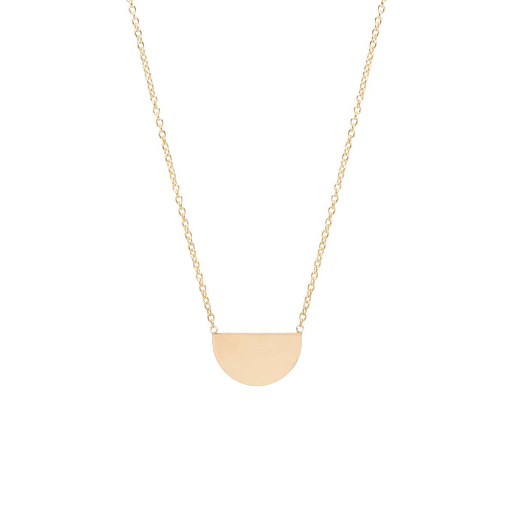 14k small horizon necklace