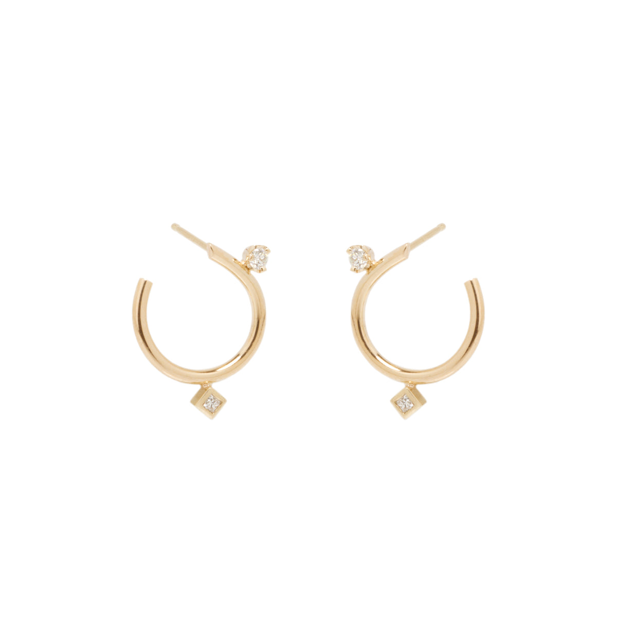 Zoë Chicco 14k Front-to-Back Diamond Hoop Earrings gmYBFnnkhc