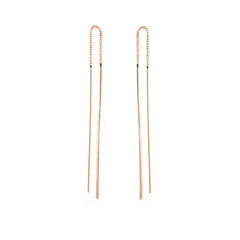 Zoë Chicco 14kt Rose Gold Hammered Wire Threader Earrings