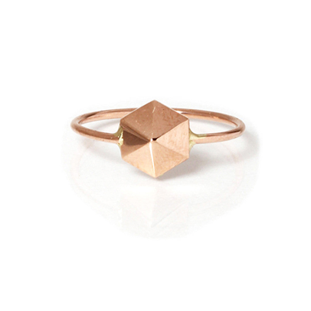 Zoë Chicco 14kt Gold Hexagon Pyramid Ring
