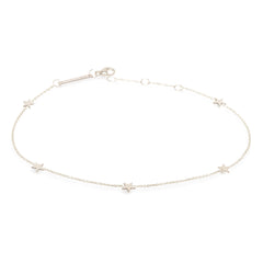 Zoë Chicco 14kt White Gold Five Itty Bitty Stars Anklet