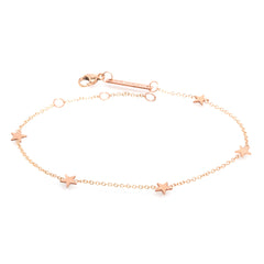 Zoë Chicco 14kt Rose Gold Itty Bitty Stars Bracelet