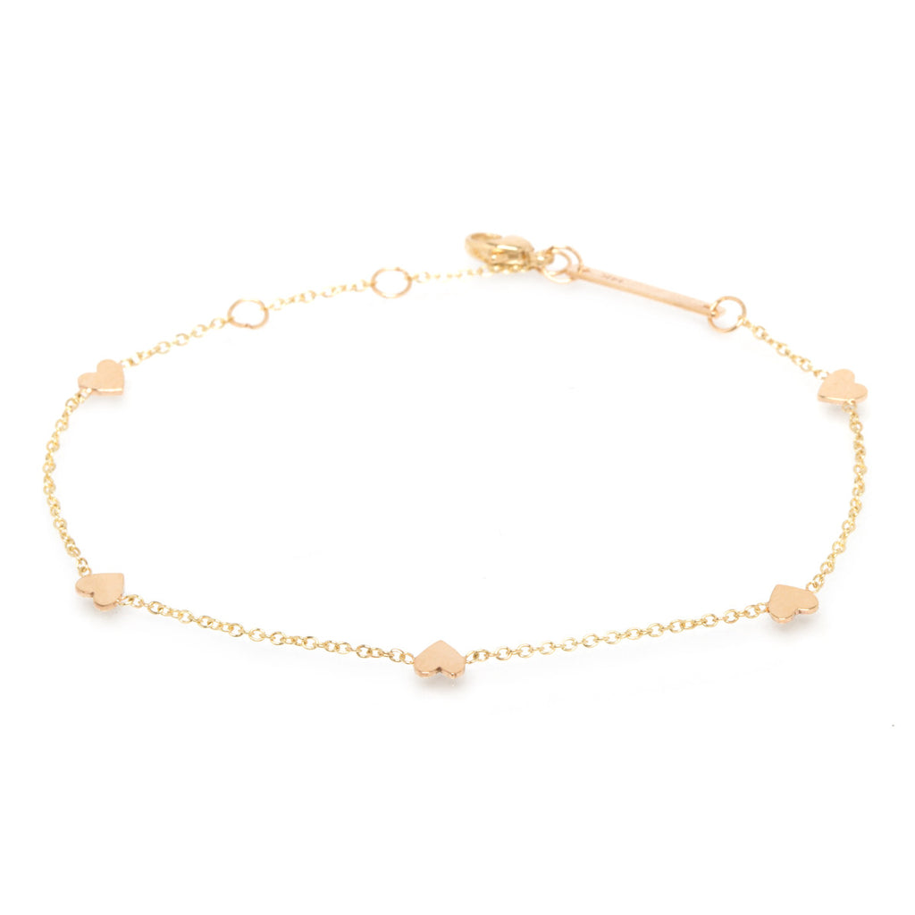 Zoë Chicco 14kt Yellow Gold Itty Bitty Hearts Bracelet