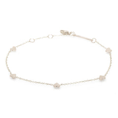 Zoë Chicco 14kt White Gold Itty Bitty Hearts Bracelet