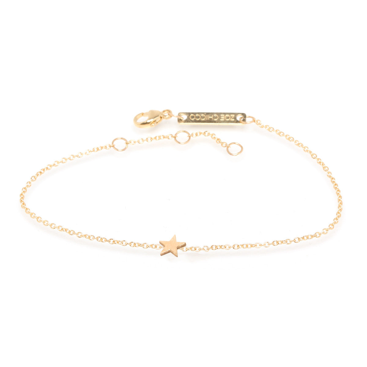 Zoë Chicco 14kt Yellow Gold Itty Bitty Star Bracelet