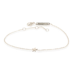 Zoë Chicco 14kt White Gold Itty Bitty Star Bracelet