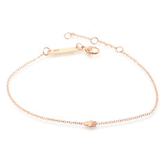 Zoë Chicco 14kt Rose Gold Itty Bitty Hamsa Bracelet
