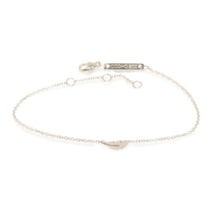 Zoë Chicco 14kt White Gold Itty Bitty Feather Bracelet