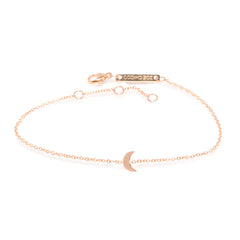 Zoë Chicco 14kt Rose Gold Itty Bitty Crescent Moon Bracelet