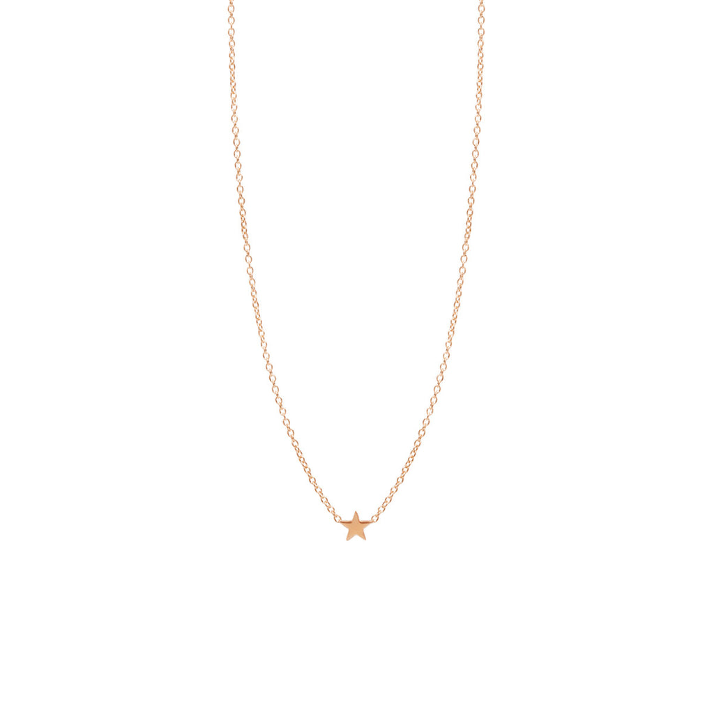 Zoë Chicco 14kt Yellow Gold Itty Bitty Star Necklace