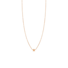 Zoë Chicco 14kt Rose Gold Itty Bitty Star Necklace