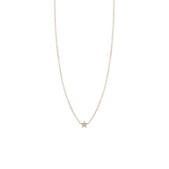 Zoë Chicco 14kt White Gold Itty Bitty Star Necklace