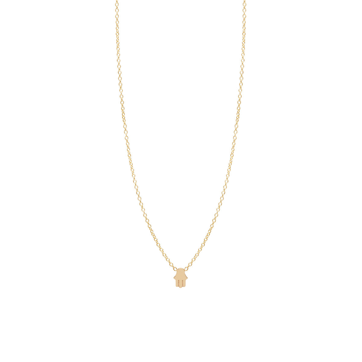 14k itty bitty hamsa necklace