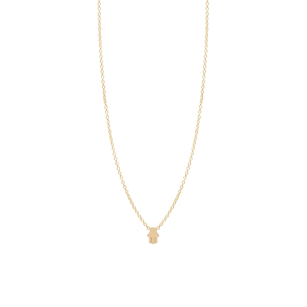 Zoë Chicco 14kt Yellow Gold Itty Bitty Hamsa Necklace