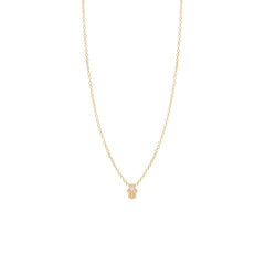 Zoë Chicco 14kt Yellow Gold White Diamond Itty Bitty Hamsa Necklace