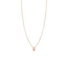 Zoë Chicco 14kt Rose Gold White Diamond Itty Bitty Hamsa Necklace