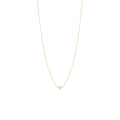 14k itty bitty diamond drawing necklace