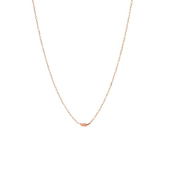 Zoë Chicco 14kt Rose Gold Itty Bitty Feather Necklace