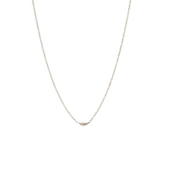 Zoë Chicco 14kt White Gold Itty Bitty Feather Necklace