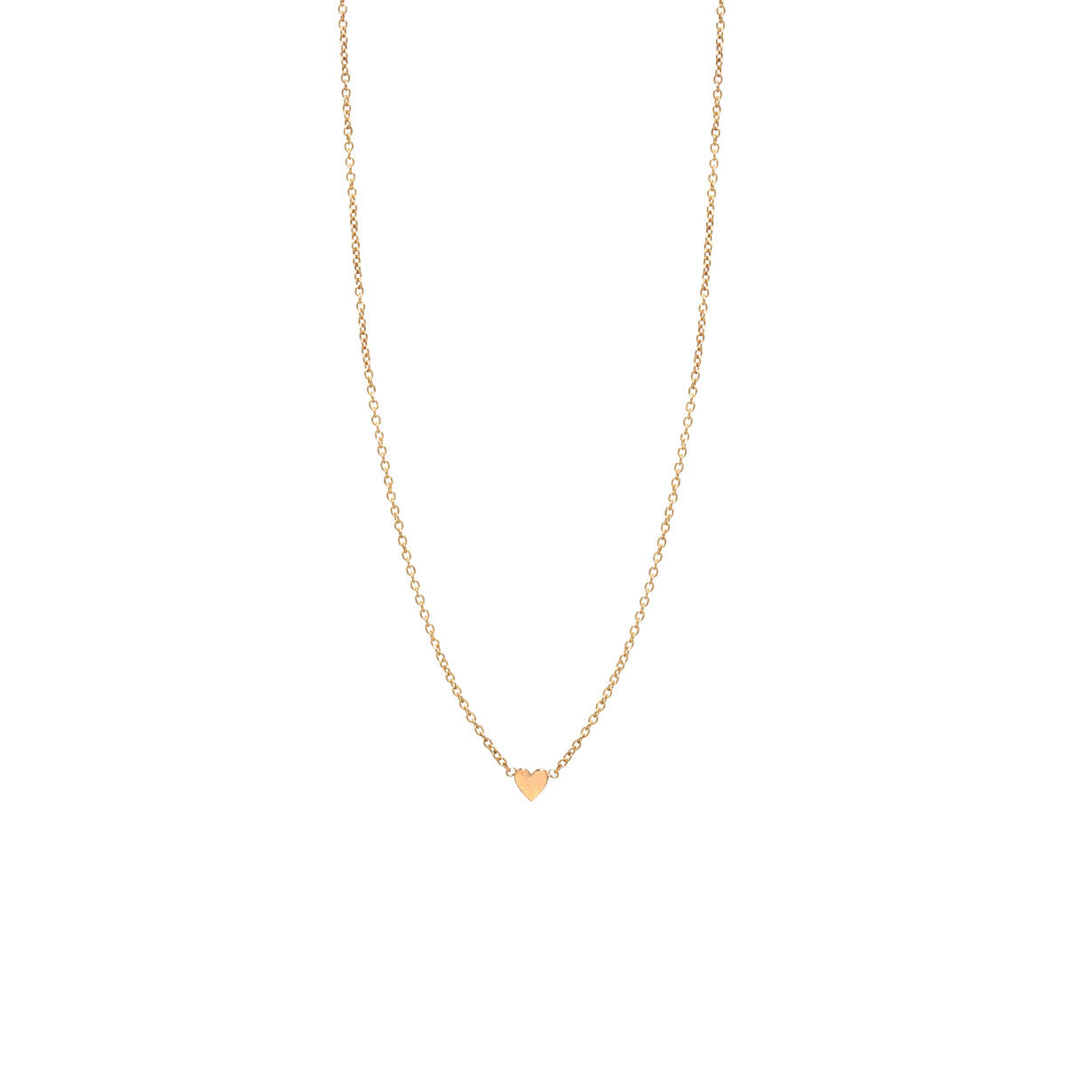 14k itty bitty heart necklace