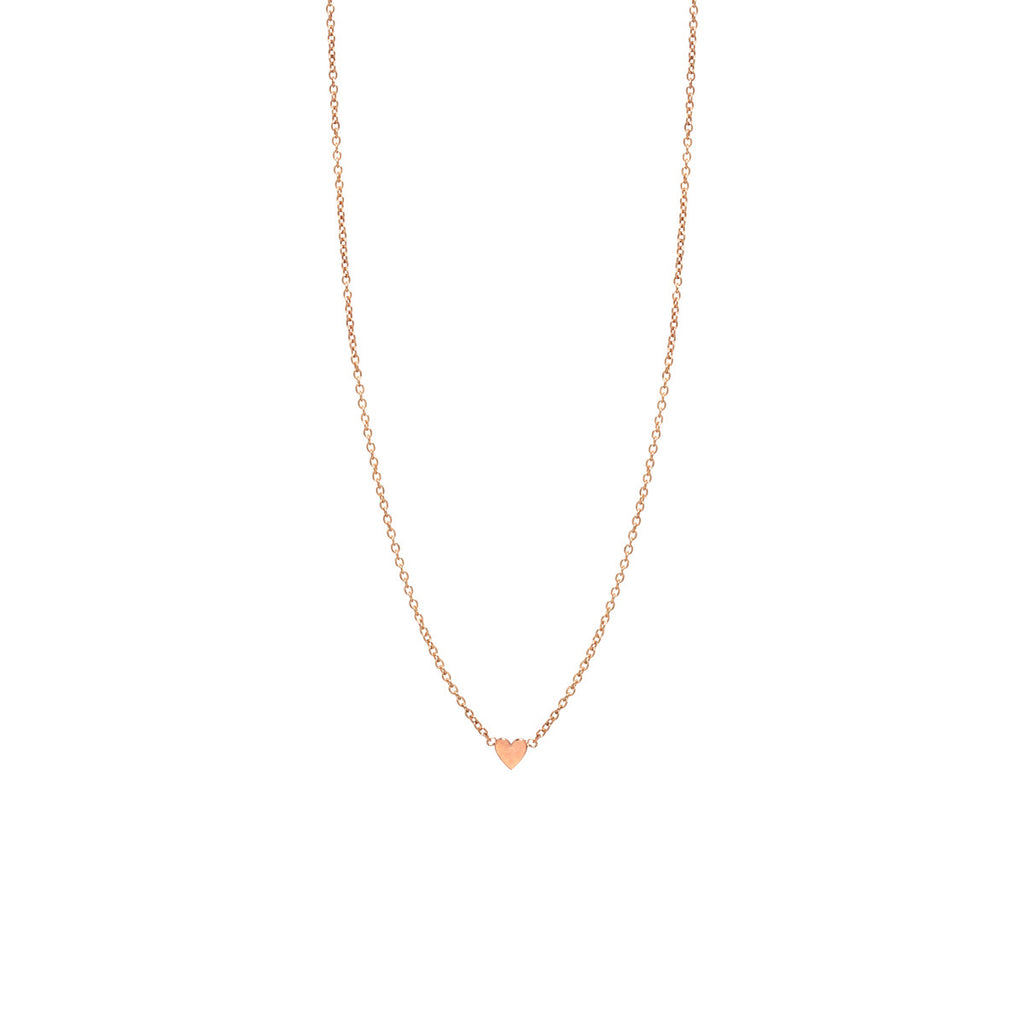 Zoë Chicco 14kt Yellow Gold Itty Bitty Heart Necklace
