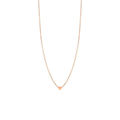 Zoë Chicco 14kt Rose Gold Itty Bitty Heart Necklace
