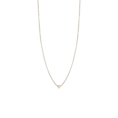 Zoë Chicco 14kt White Gold Itty Bitty Heart Necklace