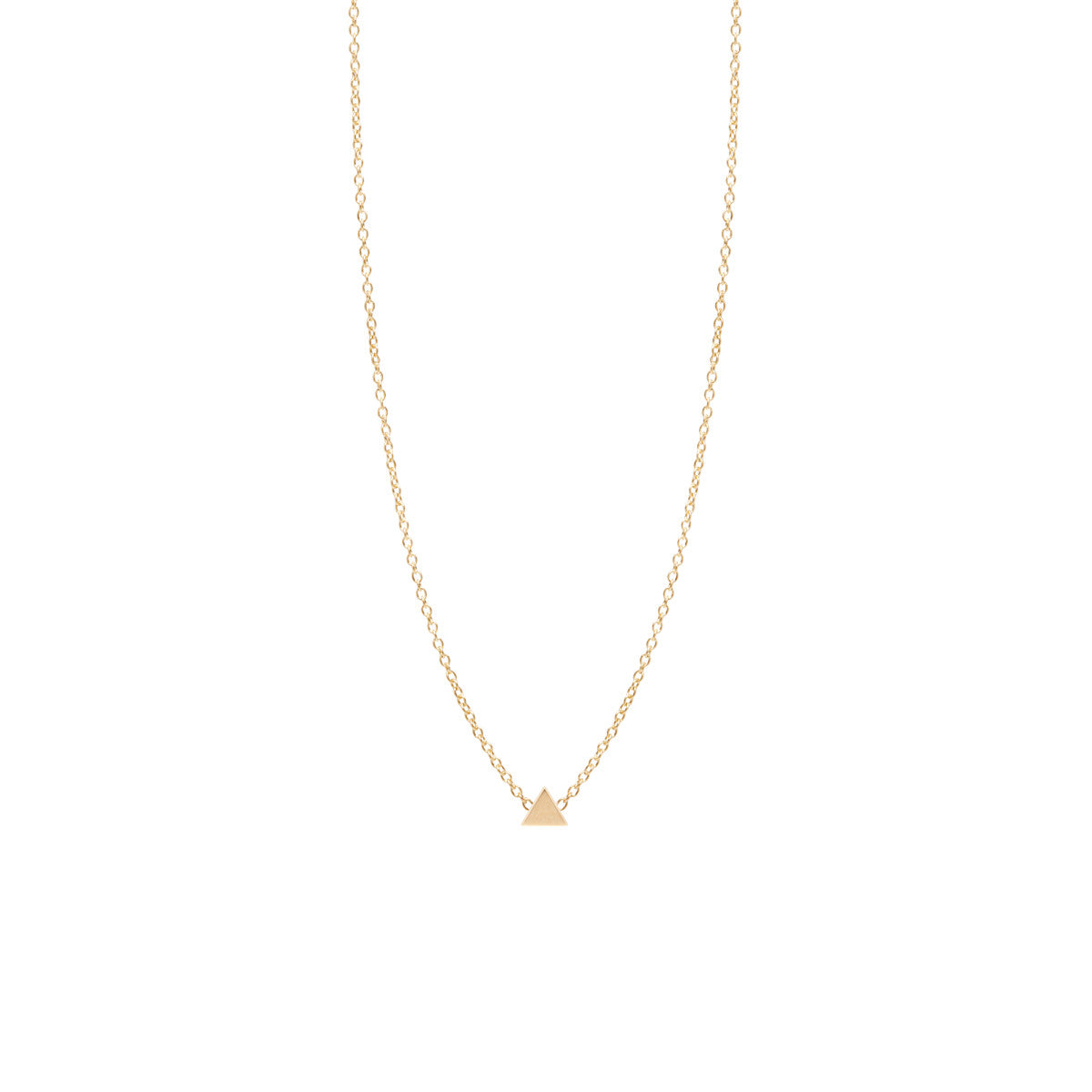 Zoë Chicco 14kt Yellow Gold Itty Bitty Triangle Necklace