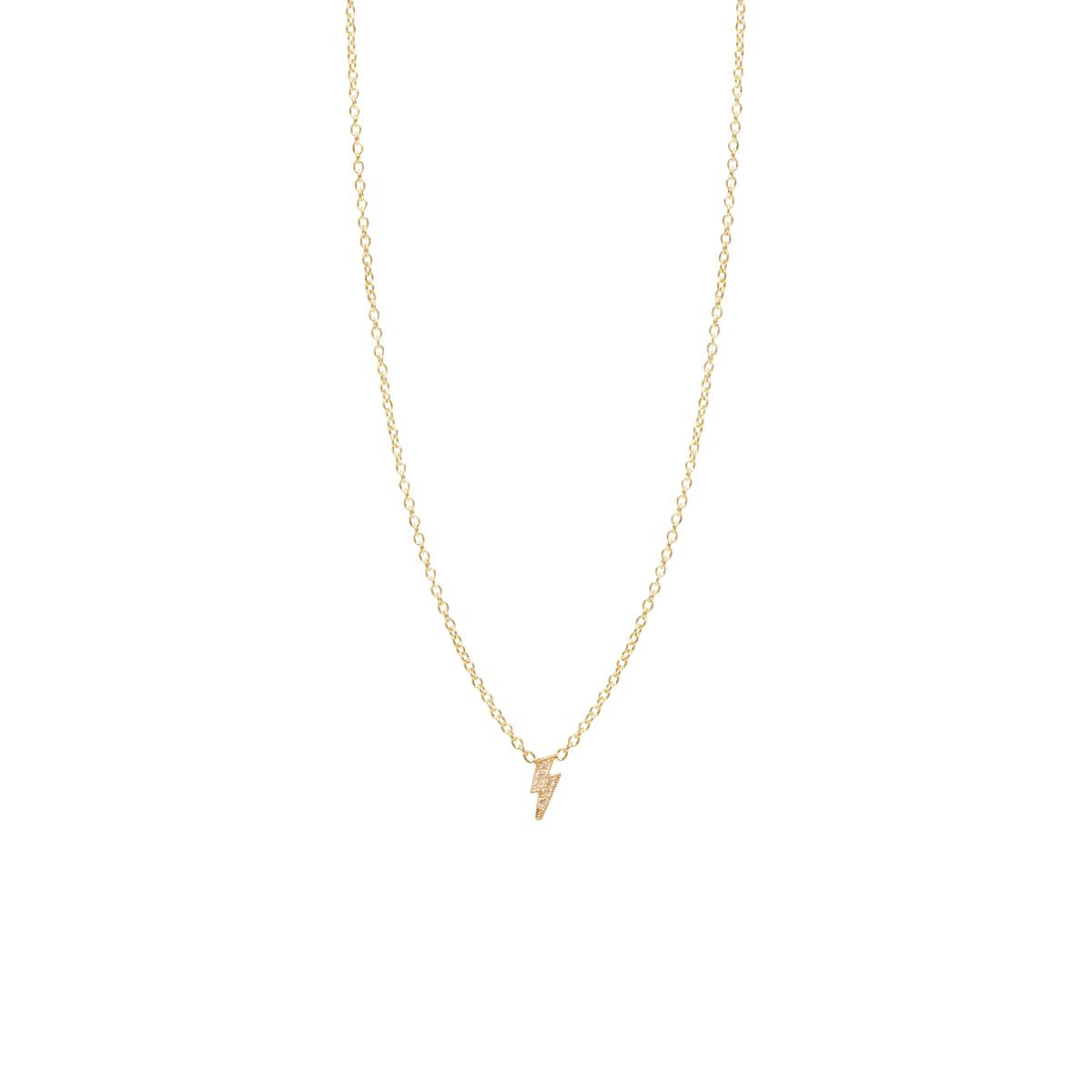 a8bf02d86b9f2 14k itty bitty pave diamond lightning bolt necklace