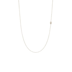 14k itty bitty off-center hamsa necklace