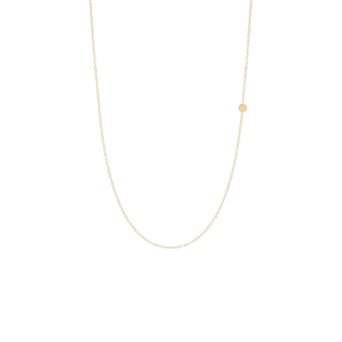 Zoë Chicco 14kt Yellow Gold Itty Bitty Off-Center Disc Necklace