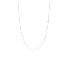 Zoë Chicco 14kt Rose Gold Itty Bitty Off-Center Disc Necklace