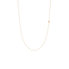 Zoë Chicco 14kt Yellow Gold Itty Bitty Off-Center Heart Necklace