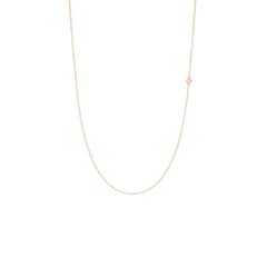 Zoë Chicco 14kt Rose Gold Itty Bitty Off-Center Diamond Shape Necklace